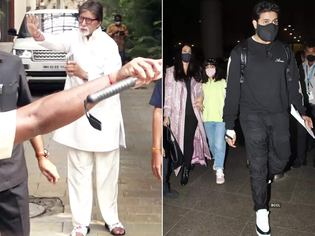 #ETimesSnapped: From Amitabh Bachchan to Abhishek-Aishwarya, paparazzi pictures of your favourite celebs