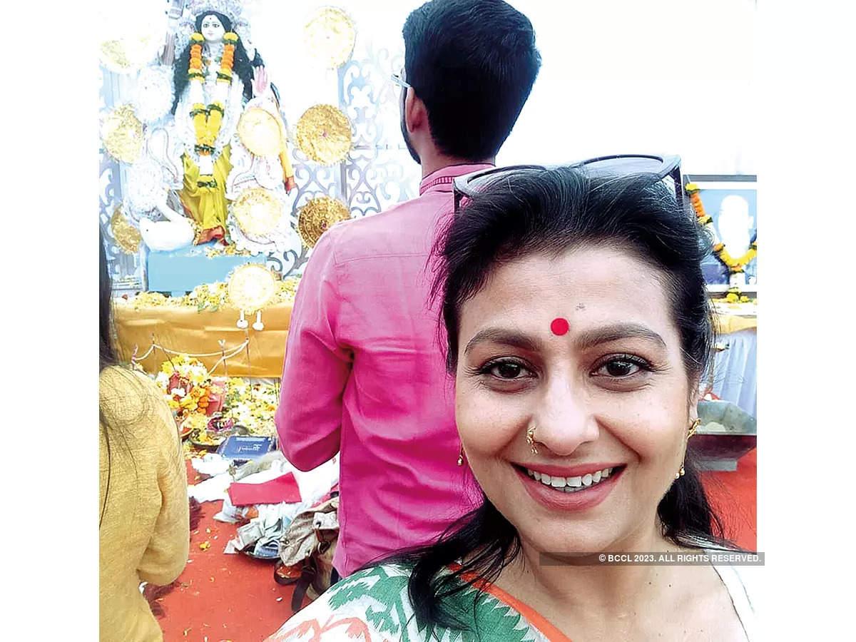 Jaya at a puja in Mumbai two years ago