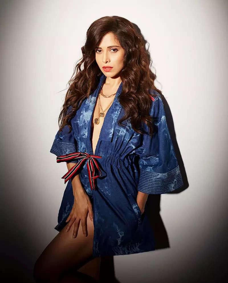Glamorous pictures of Nushrratt Bharuccha in a short revealing denim dress will set your heart racing