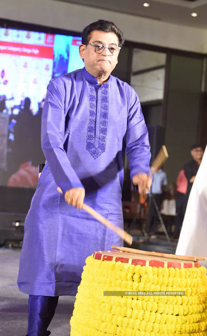 Tinsel town celebs attend a pre-puja event