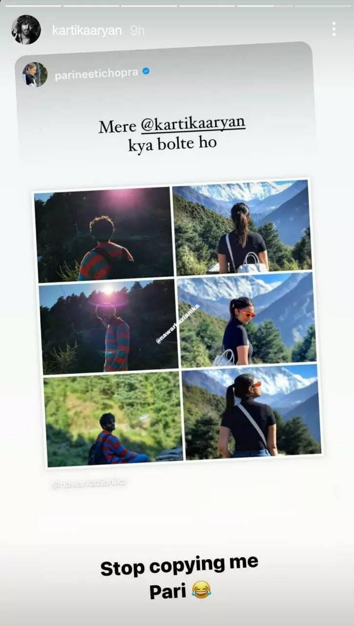 Pics: Kartik Aaryan copies Parineeti Chopra