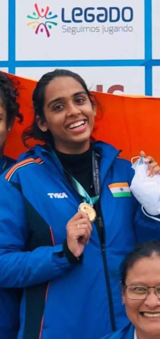 IIS girl bags gold in international shot gun competition