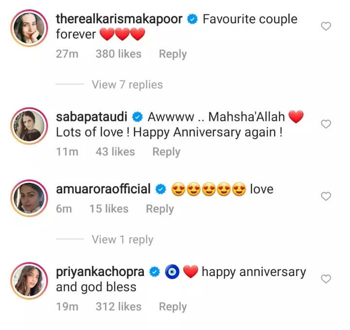 Kareena's anniversary post for Saif; see pic