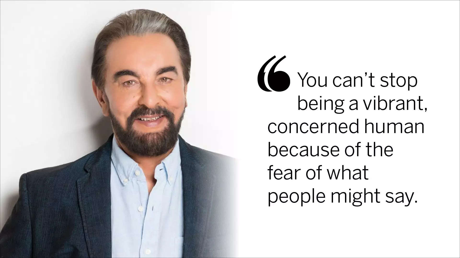 Kabir Bedi on stardom at home & in the West