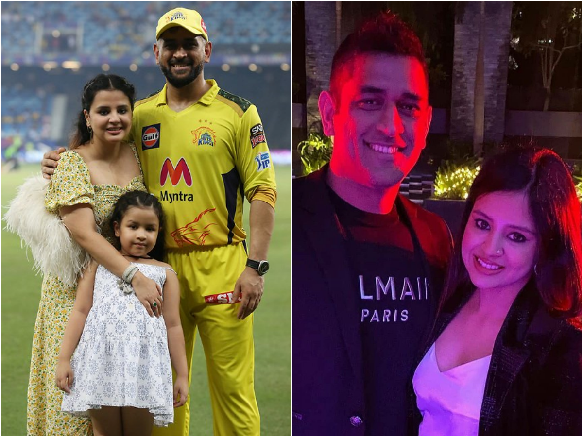 Pics of MS Dhoni and wife Sakshi go viral