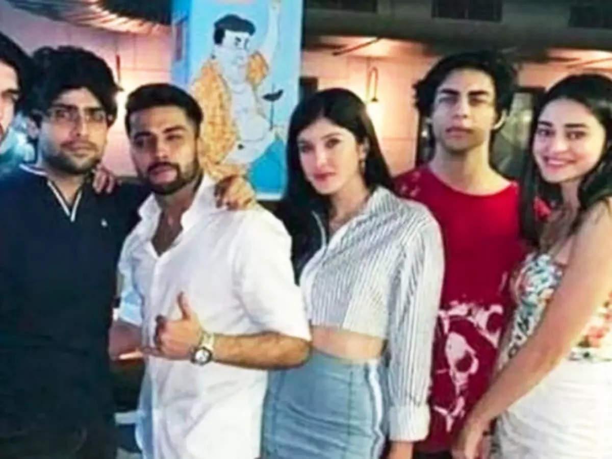 Viral party pics of Aryan Khan and Ananya