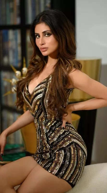 Mouni Roy turns heads in a shimmering mini dress, see glamorous pictures