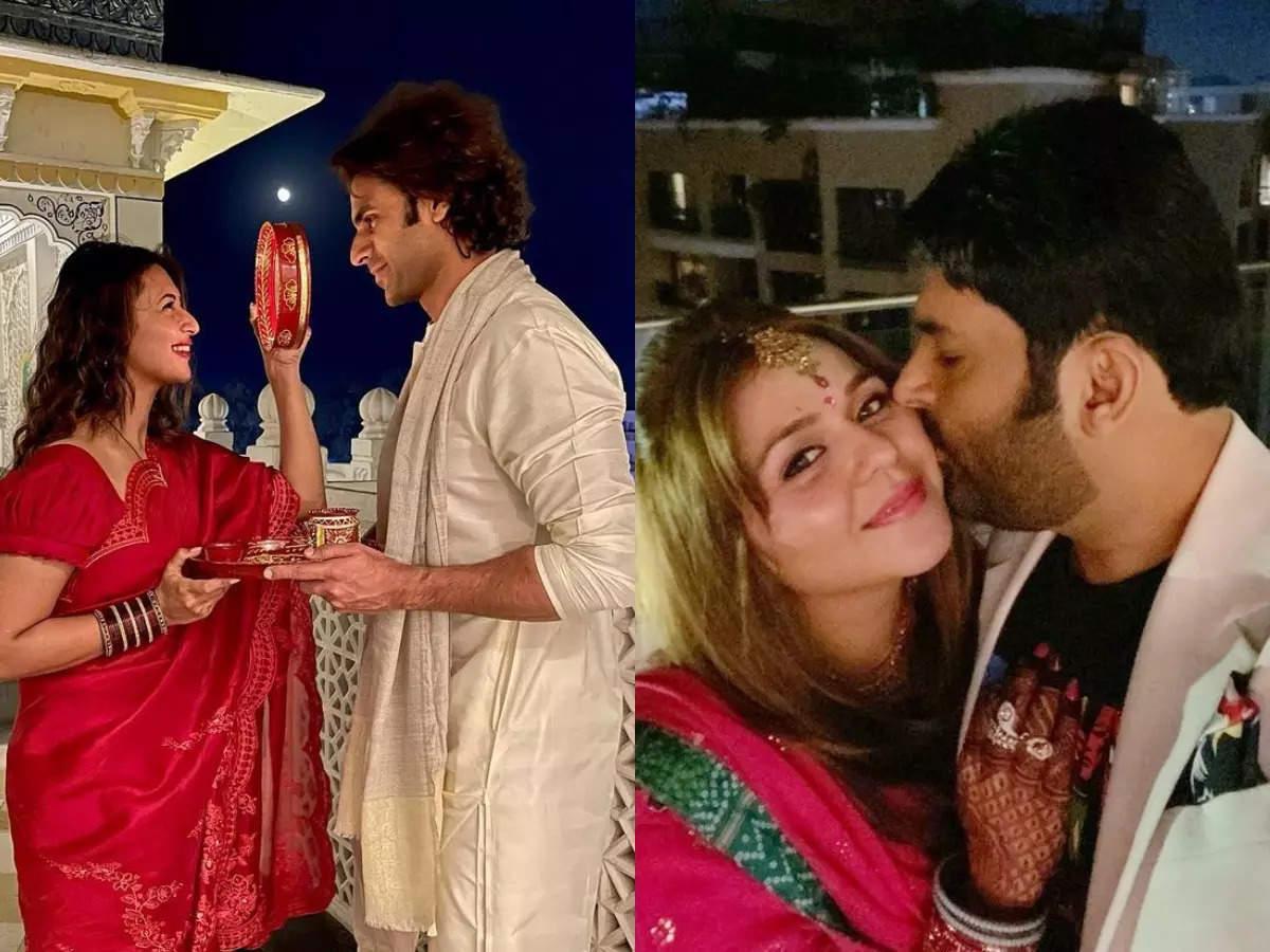 TV celebs share romantic photos on Karwa Chauth