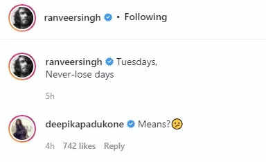Ranveer's caption leaves Deepika confused