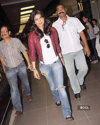 Priyanka back from Zurich