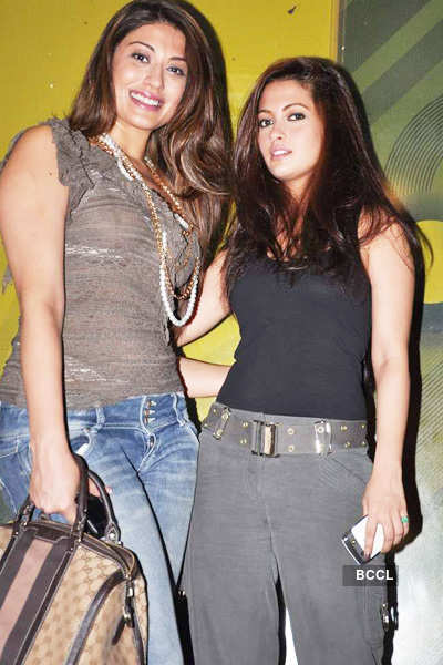Riya Sen snapped with Neha Oberoi