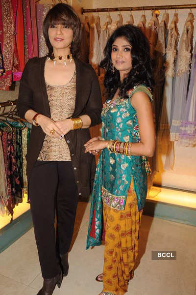 Neeta with Ratan at former's store