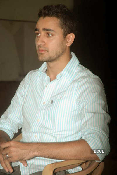 Imran at a press meet