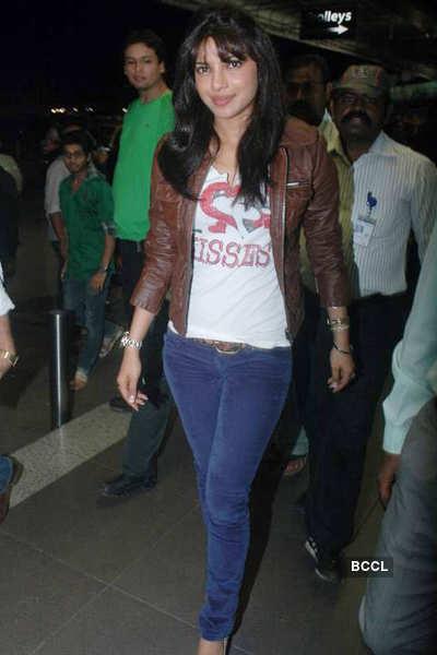 Priyanka, Anil leave for Mittal's wedding