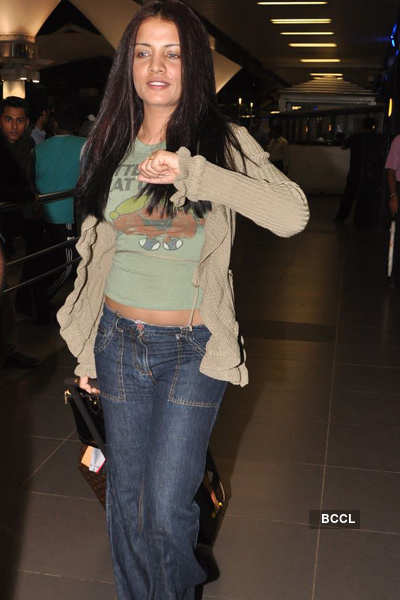 Celina Jaitley spotted at airport
