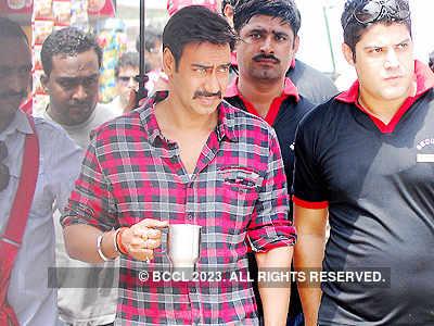 Ajay Devgn shoots in Jaipur