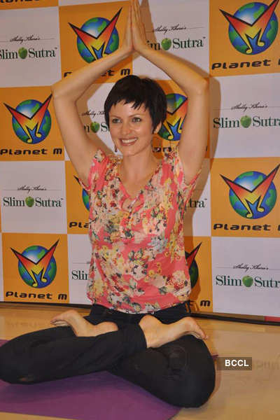 Yana at launch of 'Meditation & Slimming' DVDs