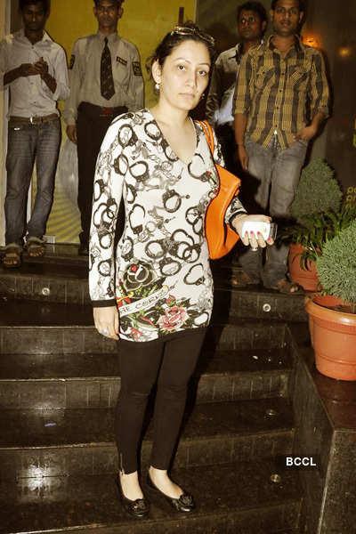 Sanju, Manyata @ 'Singham' screening