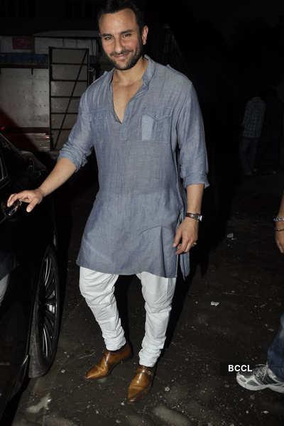 BigB, Saif & Manoj promote 'Aarakshan'