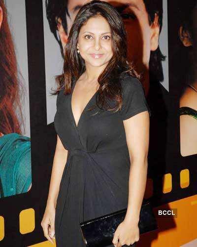 Shefali in black dress