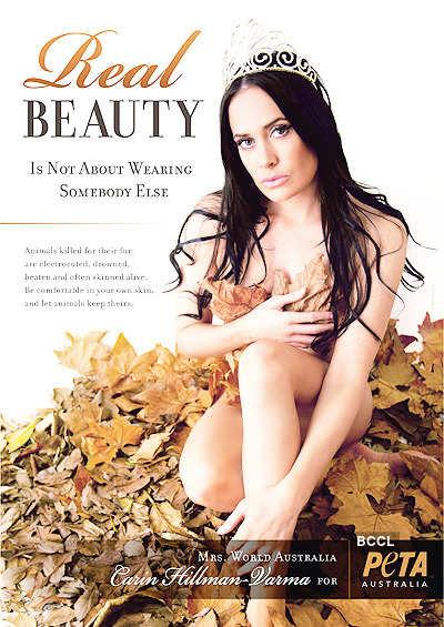 Mrs Australia poses nude
