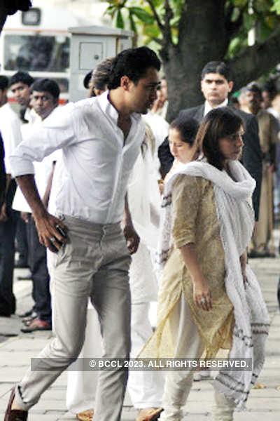 Celebs @ late Shammi Kapoor's Chautha