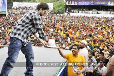 Celebs @ Sachin Ahir's Dahi Handi