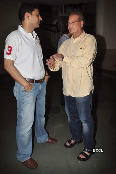 Aamir, Sallu @ spl. screening 'Bodyguard'