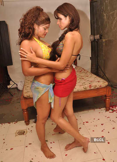 Models pose for 'lesbian' photoshoot!
