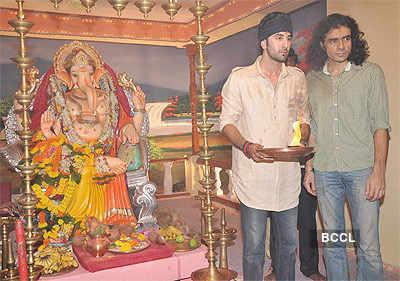 Ranbir Kapoor at Ganpati Visarjan