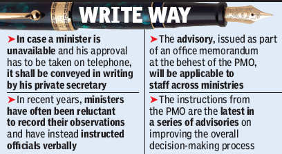 Bureaucrats Asked Not To Act On Oral Orders From Ministers India