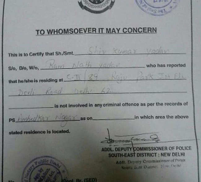 Delhi Police had issued character certificate to Uber cab