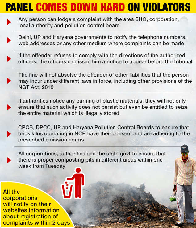Rs 5,000 fine for burning waste in NCR, says NGT | India
