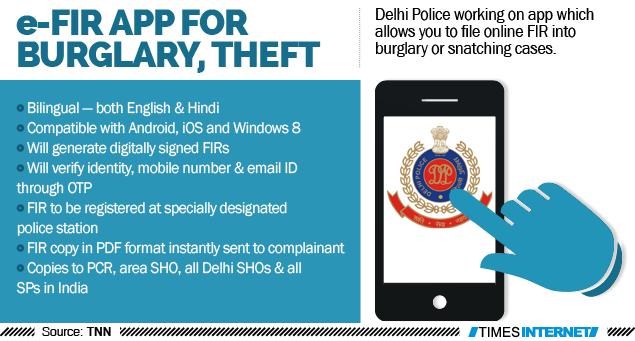 App in the works for e-FIR into burglary, theft | Delhi News
