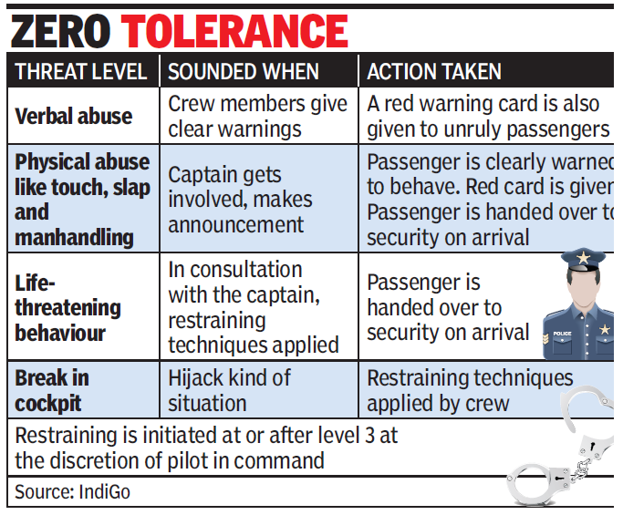 Flights to have restrainers, handcuffs on board to rein in