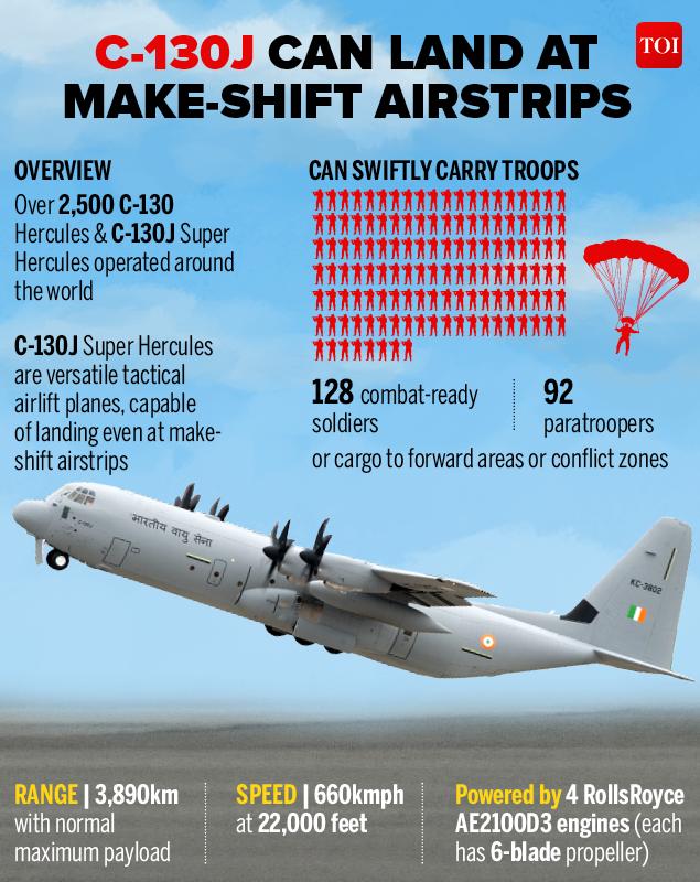 Delhi Fire Iaf Down To Four C 130j Super Hercules Aircraft