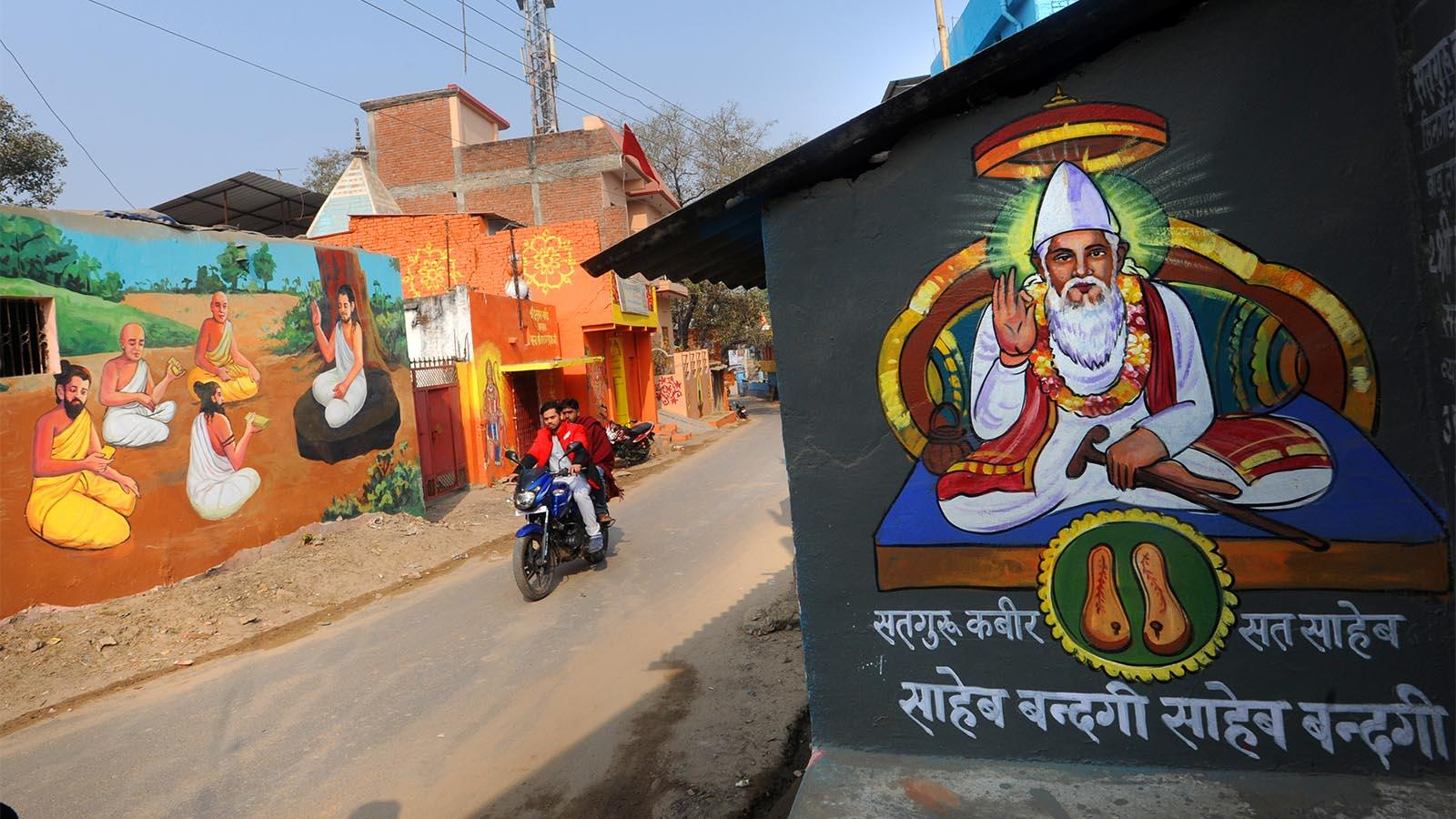 Most murals revolve around mythological themes