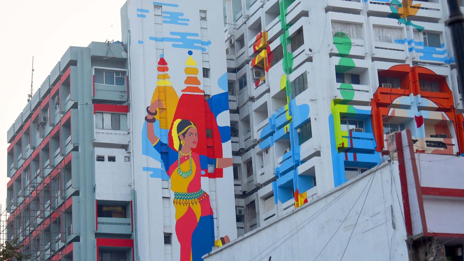 High-rises too get a splash of colour