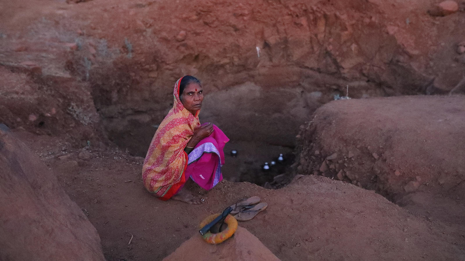 55-year-old Paribai Waghmare's days and nights revolve around the pursuit of water