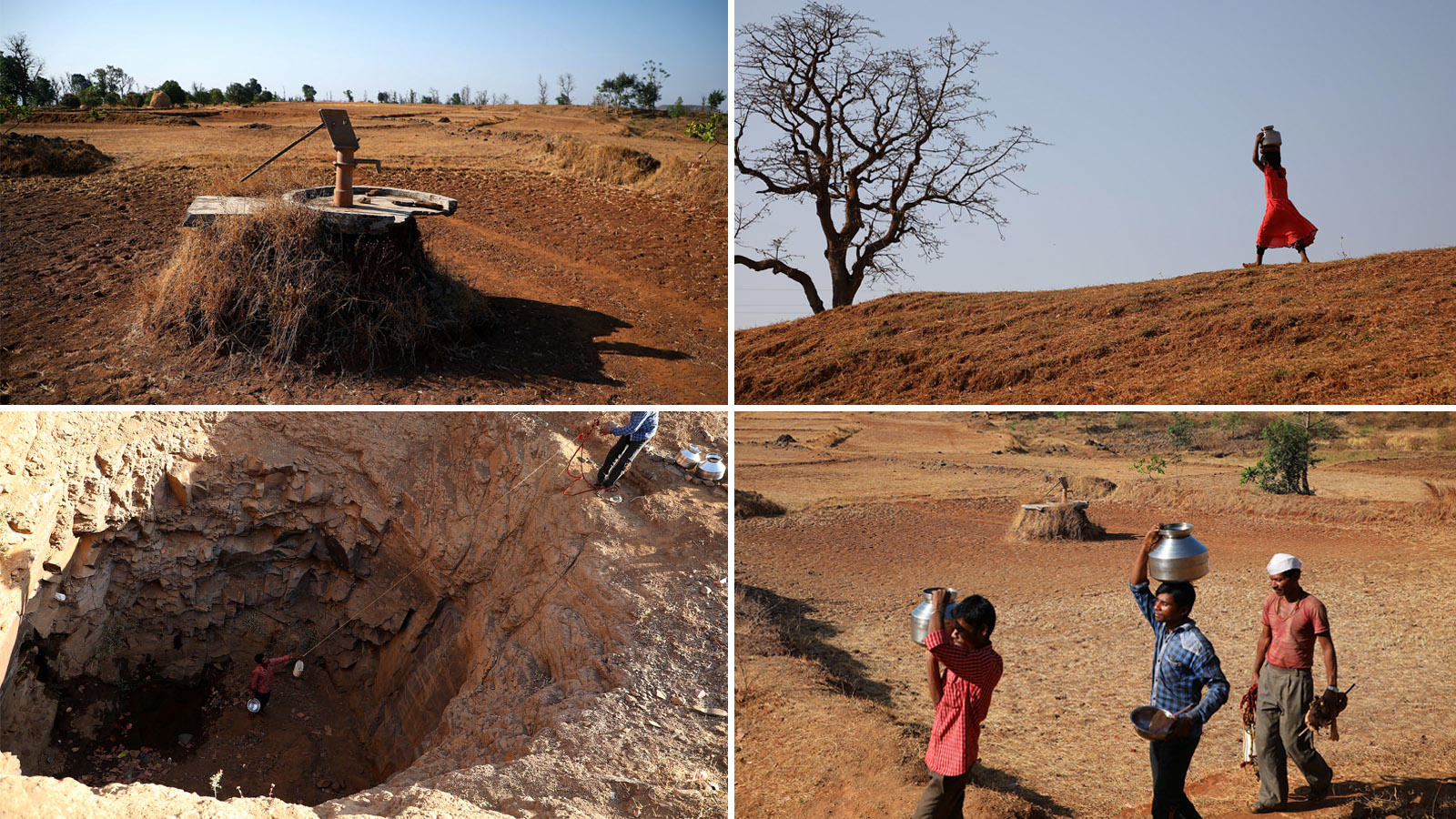 Located on parched hills, the villages - Mahismal, Galwad, Shirish pada and Moranda - suffer debilitating water shortages even though they fall in a rain rich area