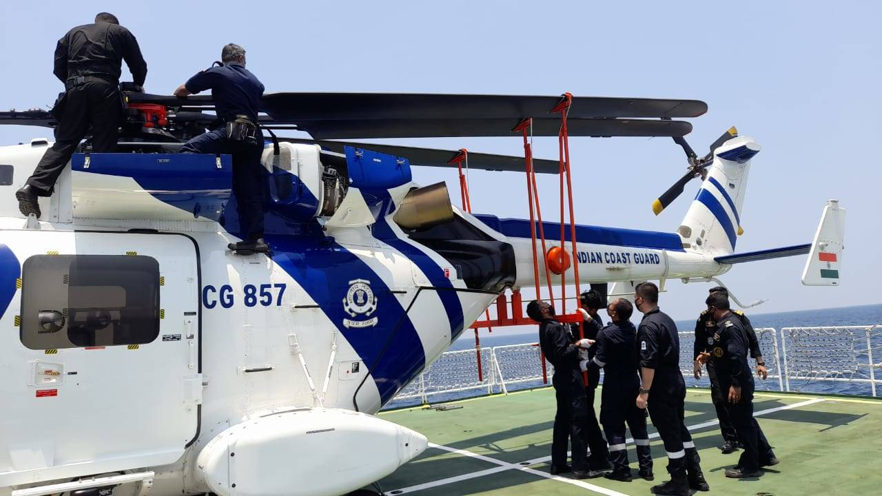 ALH Dhruv demonstrates deck operations in shipboard tests | India News