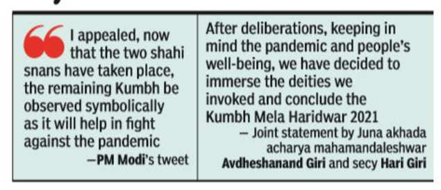 """Largest Akhada Leaves Kumbh After Prime Minister Calls For """"Symbolic"""" Observance 