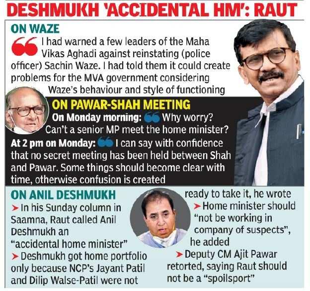Rumors of Pawar-Shah Meeting Swirl Despite Denial from NCP and Raut | India News