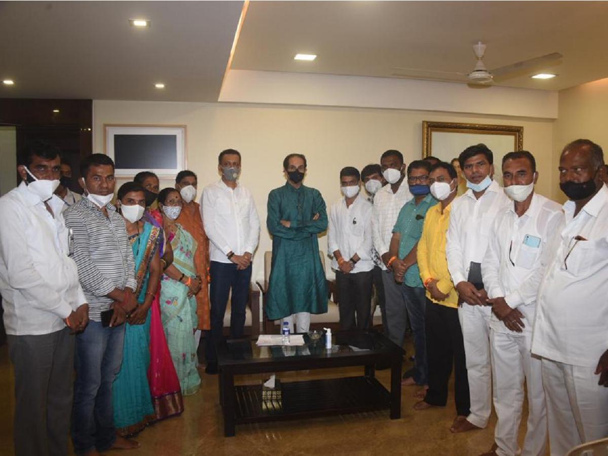 Shiv Sena corporators from Parner who joined NCP, return to Sena fold; meet Uddhav Thackeray at Matoshree