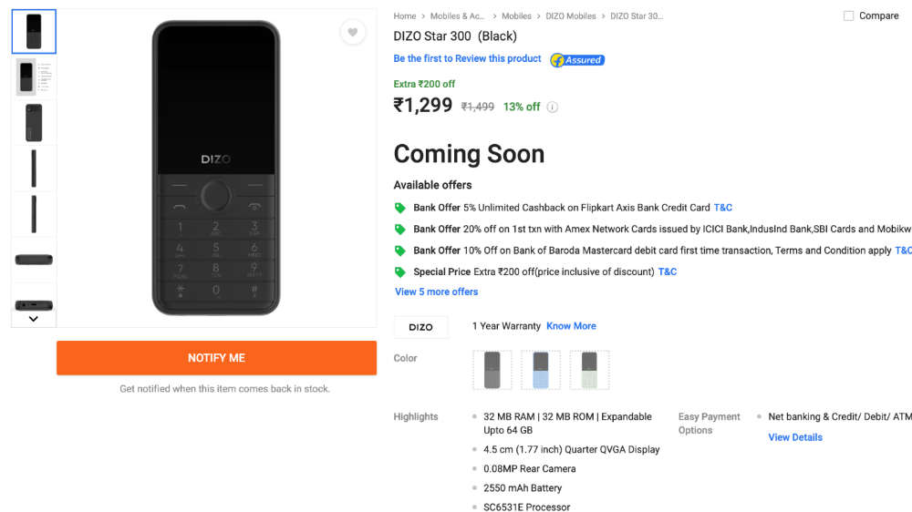 Realme's Dizo launches Star 300 and Star 500 characteristic telephones in information: Price, specs and extra