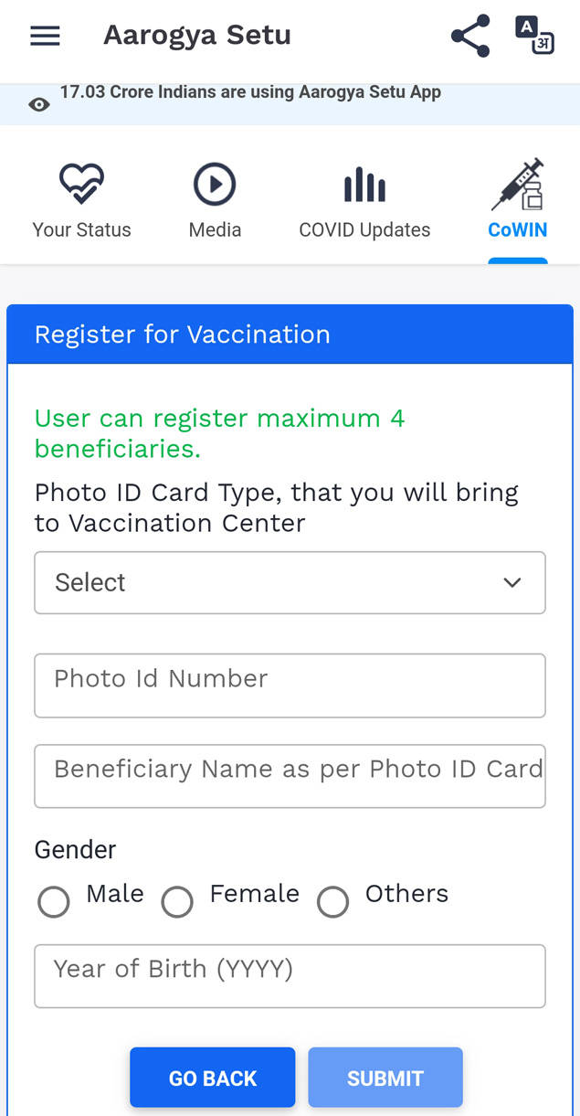 Covid Vaccination: How to Schedule an Appointment Through the Aarogya Setu App | India News