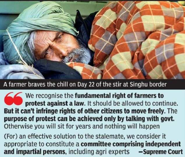 Consider Suspending New Farm Laws: SC to Government |  India News