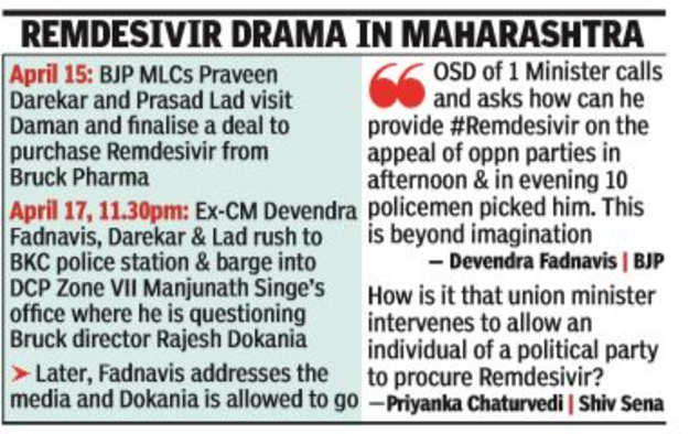"""Devendra Fadnavis breaks into the police station to """"rescue"""" the pharmaceutical co-director 
