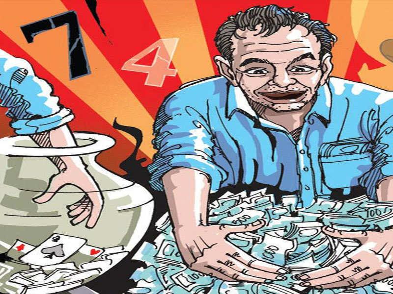 BJP woman worker, 5 men caught gambling