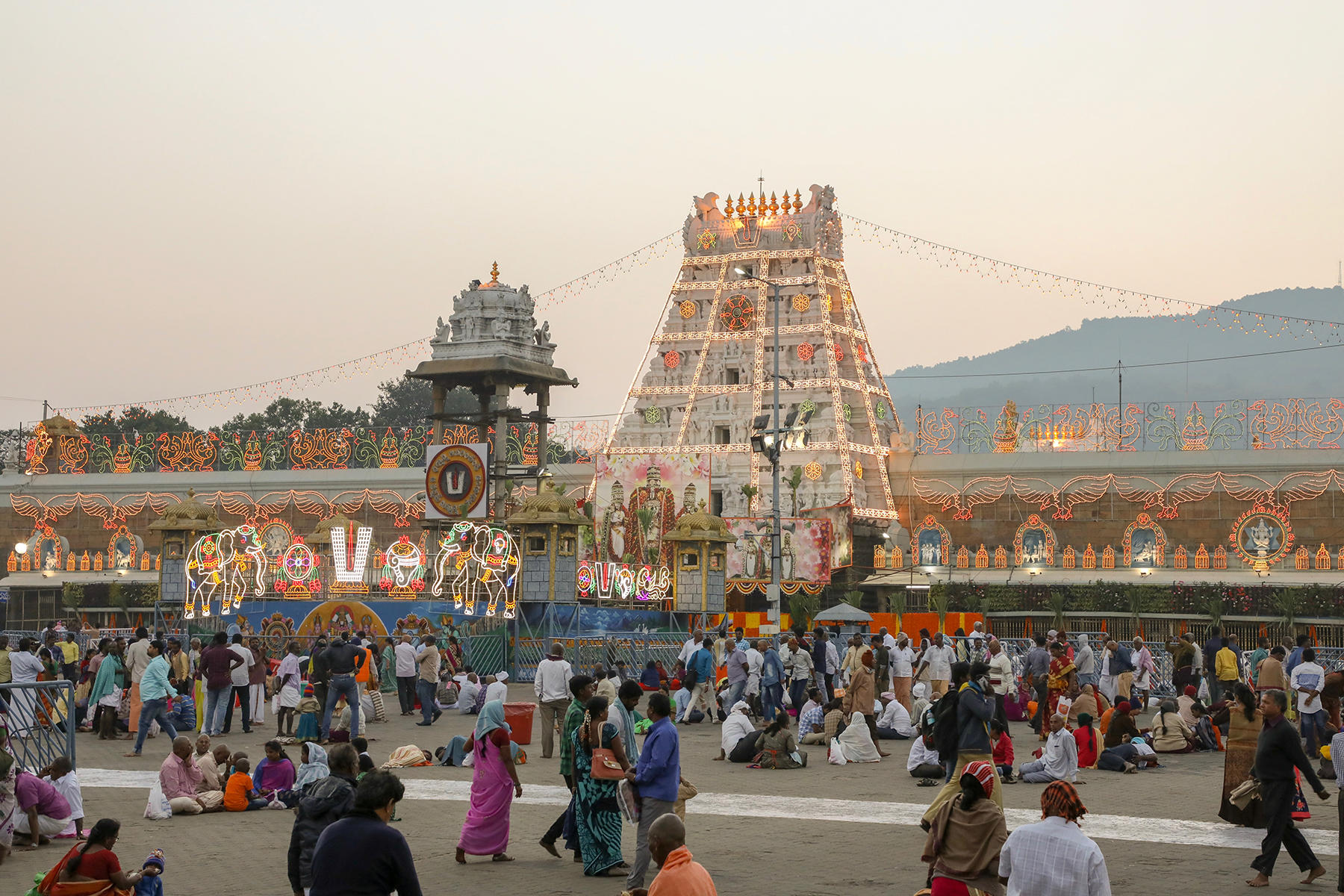 hyderabad: Tirupati Balaji temple decked up for New Year celebrations